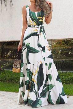 Summer Bohemian Holiday Long Dress Celmia Floral Print Beach Dress Women Sleeveless Maxi Sundress Casual Loose Party Vestidos Dresses For Less, Summer Dresses For Women, Casual Dresses, Maxi Dresses, Evening Dresses, Floral Dresses, Fashion Dresses, Vestido Maxi Floral, Plus Size Sundress
