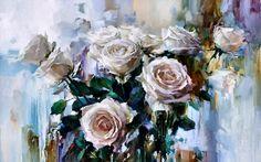 Hermosa pintura de rosas