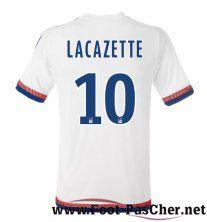 Maillot Foot Olympique Lyon OL Blanc LACAZETTE 10 Domicile 15 2016 2017 Pas Chere