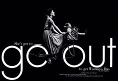 she go to go out – Szukaj wGoogle Herb Lubalin, Rocky Mountain College, Women's Day Magazine, Fortune Magazine, Expo, Advertising Agency, Modern Graphic Design, Visual Communication, Art Director