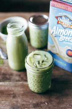 Iced Matcha Green Tea Latte | pinchofyum.com. Strict Vegans: replace honey with alternative sweetener.