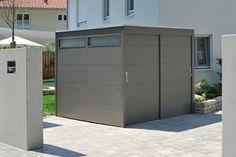 Fahrradhäuser - die traumgarten ag Shed Storage, Garage Storage, Modern Shed, Garage Doors, Outdoor Decor, House, Sheds, Home Decor, Container