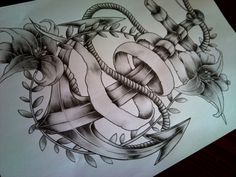 I think i'm going to get this for my grandpa..Anker Tattoo Design | Tags Anchor Tattoo Tattoos