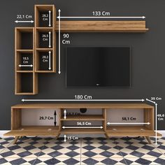Rani Wall Shelf Tv Unit With Bookcase Wall Mounted Cabinet With Metal Legs . - Tvs - Rani Wall Shelf Tv Unit With Bookcase Wall Mounted Cabinet With Metal Legs … – Tvs # - Tv Wanddekor, Modern Tv Wall Units, Modern Tv Cabinet, Tv Console Modern, Console Tv, Living Room Tv Unit Designs, Tv On Wall Ideas Living Room, Wall Unit Designs, Tv Unit Furniture