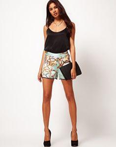 Enlarge Glamorous Scarf Print Shorts