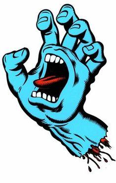 Santa Cruz Hand, Santa Cruz Logo, Skate Rock, Skate Art, Skateboard Logo, Skateboard Design, Hand Sticker, Logo Sticker, Santa Cruz Stickers