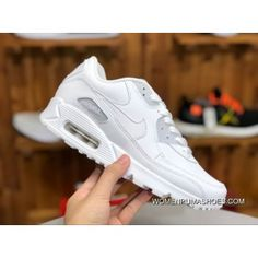599bdf010221 Nike Air Max90 Pure White Leather Women Zoom Casual Shoes Running Shoes  302519-113 Size