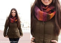 Super Easy Beginner's Knitting Cowl / Endless Scarf Pattern, using Garter Stitch | Knit and Bake