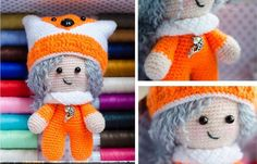 Baby doll amigurumi free crochet pattern