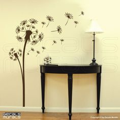 I am thinking this in my living room...dandelions symbolize courage,hope and a new beginning how fitting! <3