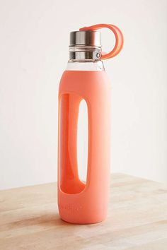 A good glass water bottle for me, with rubber on the outside. Any brand.