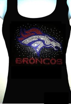 Women's Tank Top football Denver Broncos by tiffanyblingcloset