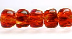 ooak orphans glass lampwork beads set of 6 boro beads by paulbead, $25.00
