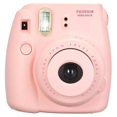 Pink polaroid camera