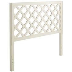 Graphic art for the bedroom. The reverse clover pattern of Quinn's laser-cut motif functions as a unique design element. Open and airy, it's ideal for smaller rooms, while allowing the wall color behind to peek through.