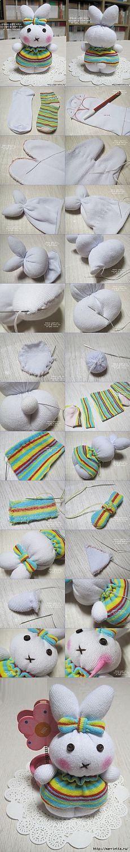 DIY Cute Sock Bunny