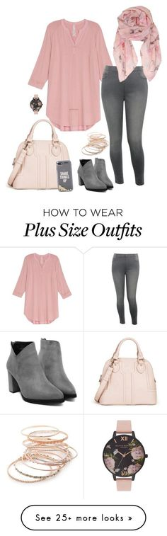 """Pink morning- plus size"" by gchamama on Polyvore featuring Melissa McCarthy Seven7, M&Co, Sole Society, Kate Spade, Humble Chic, Red Camel, Olivia Burton and plus size clothing"