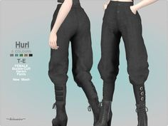 Style : Harem pants with buckle cuff detail Found in TSR Category 'Sims 4 Female Everyday' Sims Four, Sims 4 Mm Cc, Sims 4 Mods Clothes, Sims 4 Clothing, Sims 4 Cas Mods, Sims 4 Anime, Sims 4 Black Hair, Sims 4 Gameplay, Sims 4 Collections
