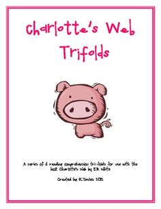 A set of 4 reading comprehension trifolds that cover the classic book Charlotte's Web by E. Each section covers a different reading compre. Teaching Materials, Teaching Resources, Teaching Ideas, Charlottes Web Activities, Web Activity, Study Pictures, Charlotte's Web, Third Grade Reading, Literature Circles