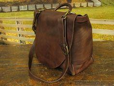 vintage leather mail carrier bag