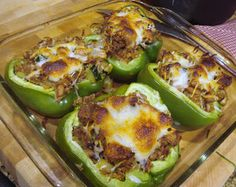 Easy Stuffed Green Peppers made with whatever is in your pantry