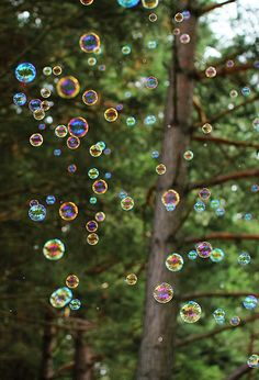 Bubbles can make you smile. Connect to the fun parts of childhood.