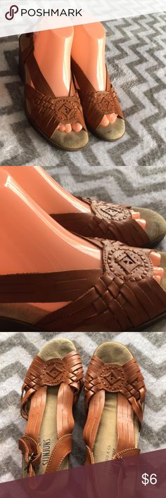 Women's leather wedge sandals Women's leather wedge sandals Some wear Shoes Wedges