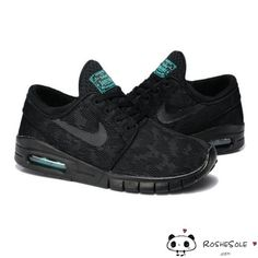 Nike SB Stefan Janoski Max Black Pine Green Black Mens Shoes