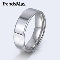Stainless Steel Silver Tone Smooth Comfort Fit Band Ring //Price: $14.66 & FREE Shipping //     #hashtag2