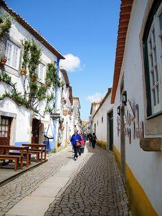 A typical Óbidos street - Óbidos (Portugal)
