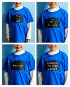 Boy, Oh Boy, Oh Boy Crafts: Handmade Gifts For Boys: Wipeable Chalkboard Speech Bubble T-Shirt