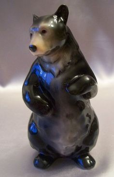 "Franz Porcelain Standing Bear Figurine      6"" tall asking price $125 plus shipping    *nice*"