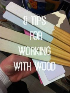 Working with wood for home decor and furniture revival projects can be tricky. Take a look army 8 tips and tricks.