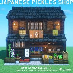 Minecraft Shops, Minecraft House Plans, Minecraft Cottage, Cute Minecraft Houses, Minecraft City, Minecraft House Designs, Minecraft Construction, Amazing Minecraft, Minecraft Blueprints