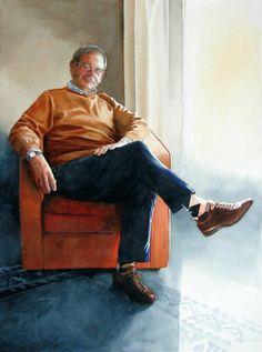Ton - portrait in Winsor&Newton watercolours on Arches 600grams paper