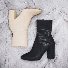 Nude X Black Boots    #riverisland #black #nude #boots #shoes #outfit #winter #fashion #heeled