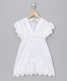 Take a look at this White Peasant Tunic - Toddler & Girls by Wewe Clothing & Funky People on #zulily today!