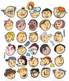 Realistic Graphic DOWNLOAD (.ai, .psd) :: http://vector-graphic.de/pinterest-itmid-1001628015i.html ... People Face Cartoon Collection ...  boy, caricature, cartoon, character, collection, cute, doodle, emotion, expression, face, funny, girl, happy, head, man, office, people, person, portrait, set, smile, team, woman  ... Realistic Photo Graphic Print Obejct Business Web Elements Illustration Design Templates ... DOWNLOAD :: http://vector-graphic.de/pinterest-itmid-1001628015i.html