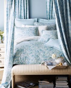 Shop Marcus Collection Susanne Bed Linens at Horchow, where you'll find new lower shipping on hundreds of home furnishings and gifts. Aqua Bedding, Linen Bedding, Duvet, Bed Linens, Bedding Sets, Blue Bedroom Decor, Bedroom Wall Colors, Design Bedroom, Bedroom Ideas