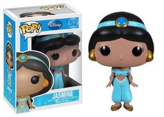 Disney: Jasmine, the pretty princess from Disney's hit Aladdin movie is now a cute and stylized figure. This Aladdin Jasmine Disney Princess Pop. vinyl figure features the tenacious and generous Sultan's daughter as an adorable Pop. Funk Pop, Disney Pop, Disney Pixar, Disney Movies, Disney Jasmine, Princess Jasmine, Aladdin Princess, Aladdin Movie, Jasmine Aladin