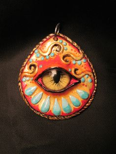 One of my polymer clay pendants.