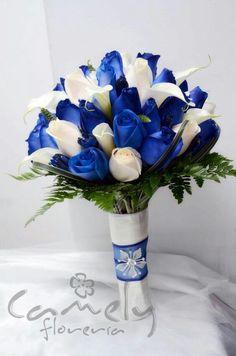 Prom Flowers, Blue Wedding Flowers, Bridal Flowers, Floral Wedding, Wedding Colors, Bridal Bouquet Blue, Bride Bouquets, Flower Bouquet Wedding, Blue Wedding Decorations