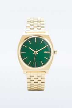 Nixon Time Teller Gold and Green Analog Watch