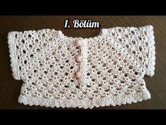 Bayram Sugar Robali Dress / Part 1 - You Dress - Diy Crafts Crochet Dress Girl, Crochet Baby Dress Pattern, Crochet Yoke, Crochet Baby Cardigan, Crochet Girls, Newborn Crochet, Crochet Baby Booties, Crochet Blouse, Baby Knitting Patterns