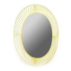 Miroir ovale STILK jaune - COLONEL x SERAX