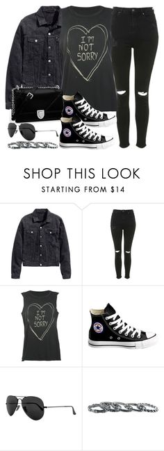 """Sin título #12090"" by vany-alvarado ❤ liked on Polyvore featuring H&M, Topshop, Full Tilt, Converse, Ray-Ban and Southwest Moon"