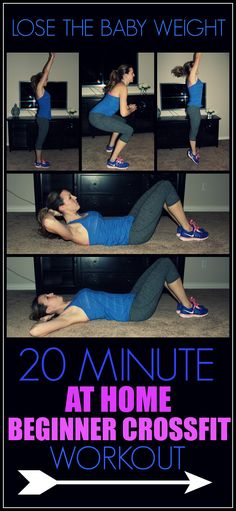 20 Minute At Home Beginner Crossfit Workout to Lose The Baby Weight