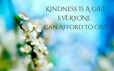 Being kind.