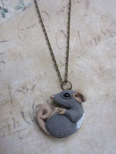 Snuggling rat necklace by rudeandreckless on Etsy, $18.00