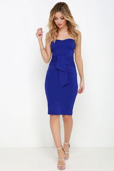 Sash Appeal Royal Blue Strapless Dressat Lulus.com!